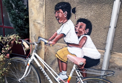 Bespoked-Chalabre local art kids on bike